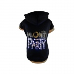 Pet Life LED Lighting Halloween Party Hooded Sweater Pet Costume: Large, Black