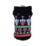 Pet Life LED Lighting Patterned Holiday Hooded Sweater Pet Costume: Medium, Black