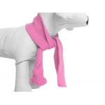 Pet Life Pet Fashion-Plush Knitted Cozy Winter Scarf: One Size, Pink