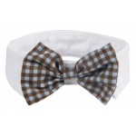 Pet Life Fashionable and Trendy Dog Bowtie: One Size, Black, White