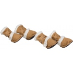 "Pet Life Shearling ""Duggz"" Pet Shoes: Large, Brown & White"