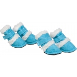 "Pet Life Shearling ""Duggz"" Pet Shoes: Small, Blue & White"