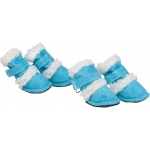"Pet Life Shearling ""Duggz"" Pet Shoes: Large, Blue & White"