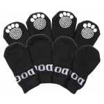 Pet Life Pet Socks W/ Rubberized Soles: Large, Black