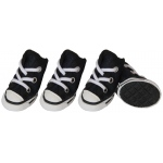 Pet Life Extreme-Skater Canvas Casual Grip Pet Sneaker Shoes - Set Of 4: X-Small, Navy/White