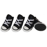 Pet Life Extreme-Skater Canvas Casual Grip Pet Sneaker Shoes - Set Of 4: Small, Navy/White