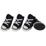 Pet Life Extreme-Skater Canvas Casual Grip Pet Sneaker Shoes - Set Of 4: Medium, Navy/White