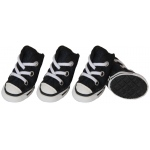 Pet Life Extreme-Skater Canvas Casual Grip Pet Sneaker Shoes - Set Of 4: Large, Navy/White