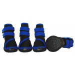 Pet Life Performance-Coned Premium Stretch Supportive Pet Shoes - Set Of 4: Medium, Black/Blue