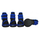 Pet Life Performance-Coned Premium Stretch Supportive Pet Shoes - Set Of 4: Large, Black/Blue