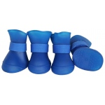 Pet Life Elastic Protective Multi-Usage All-Terrain Rubberized Dog Shoes: Large, Blue