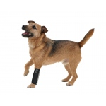 Pet Life Extreme-Neoprene Joint Protective Reflective Pet Sleeves: Medium, Black