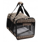 Pet Life Airline Approved 'Flightmax' Collapsible Pet Carrier: One Size, Jacquard Print