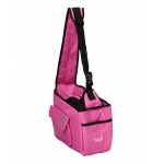 Pet Life Fashion Back-Supportive Over-The-Shoulder Fashion Pet Carrier: One Size, Pink