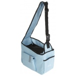 Pet Life Fashion Back-Supportive Over-The-Shoulder Fashion Pet Carrier: One Size, Light Blue