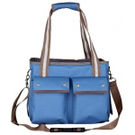 Pet Life Pet Life Fashion Canvas Pet Carrier: One Size, Blue