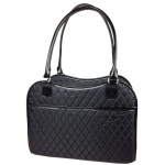 Pet Life Exquisite' Handbag Fashion Pet Carrier: One Size, Black