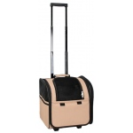 Pet Life Wheeled Travel Pet Carrier: One Size, Brown