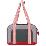 Pet Life Pet Life Candy Cane' Fashion Pet Carrier: One Size, Grey/Red