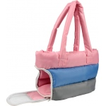 Pet Life Bubble-Poly Tri-Colored insulated Pet Carrier: One Size, Pink, Blue, Grey