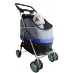 Pet Life Outdoors 'All-Surface' Convertible All-In-One Pet Stroller Carrier And Car-Seat: One Size, Blue