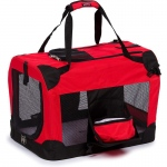 Pet Life Folding Deluxe 360° Vista View House Pet Crate: Small, Red