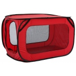 Pet Life Pet Life Rectangular Elongated Mesh Canvas Collapsible Outdoor Tent w/ bottle holder: One Size, Red