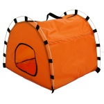 Pet Life Pet Life Skeletal Outdoor Travel Collapsible Pet House Tent: One Size, Orange