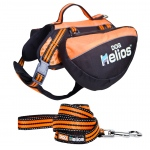 Helios Freestyle 3-in-1 Explorer Convertible Backpack, Harness and Leash: Large, Orange