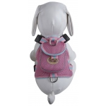 Pet Life Mesh Pet Harness With Pouch: Medium, Pink