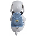 Pet Life Mesh Pet Harness With Pouch: Medium, Blue