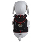 Pet Life Mesh Pet Harness With Pouch: Medium, Black