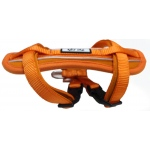 Pet Life Mountaineer Chest Compression Adjustable Reflective Easy Pull Dog Harness: Medium, Orange