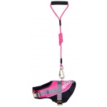 Helios Bark-Mudder Easy Tension 3M Reflective Endurance 2-in-1 Adjustable Dog Leash and Harness: Medium, Pink