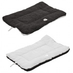 Pet Life Eco-Paw Reversible Eco-Friendly Pet Bed: Large, Black And White