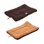 Pet Life Eco-Paw Reversible Eco-Friendly Pet Bed: Large, Brown And Cocoa