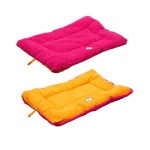 Pet Life Eco-Paw Reversible Eco-Friendly Pet Bed: Large, Pink And Orange