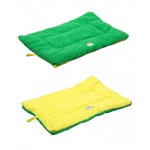 Pet Life Eco-Paw Reversible Eco-Friendly Pet Bed: Large, Green And Yellow