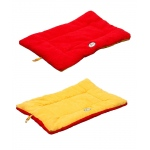 Pet Life Eco-Paw Reversible Eco-Friendly Pet Bed: Large, Orange And Red