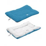 Pet Life Eco-Paw Reversible Eco-Friendly Pet Bed: Large, Blue And Aqua