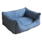Pet Life Wick-Away Nano-Silver and Anti-Bacterial Water Resistant Rectangular Dog Bed: Small, Blue Plaid