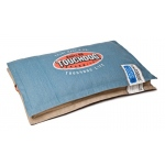 Touchdog Sporty Shock-Stitched Reversible Rectangular Thick Dog Mat: Large, Denim Blue, Mocha Brown