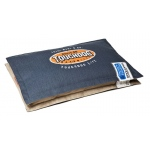 Touchdog Sporty Shock-Stitched Reversible Rectangular Thick Dog Mat: Large, Royal Blue, Mocha Brown