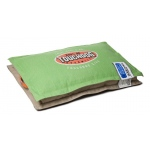 Touchdog Sporty Shock-Stitched Reversible Rectangular Thick Dog Mat: Large, Mint Green, Mocha Brown
