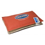 Touchdog Sporty Shock-Stitched Reversible Rectangular Thick Dog Mat: Large, Grenadine, Mocha Brown