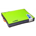 Touchdog Surface-Control Reversible Thick Cushioned Travel Sporty Dog Mat: Large, Neon Green, Grey