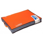 Touchdog Surface-Control Reversible Thick Cushioned Travel Sporty Dog Mat: Large, Orange, Grey