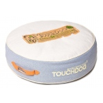 Touchdog Original Surround-View Classical Denim-Toned Plush Raised Dog Bed: One Size, Denim Fade Blue, Beige White