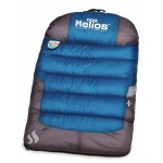 Helios Trail-Barker Multi-Surface Travel Dog Bed Featuring BlackShark Technology: One Size, Blue, Dark Grey