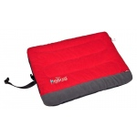Helios Combat-Terrain Outdoor Cordura-Nyco Travel Folding Dog Bed: Medium, Red, Grey